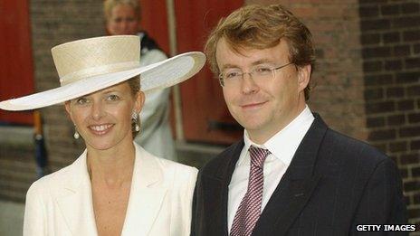 Prince Johan Friso with Princess Mabel (file pic 2004)