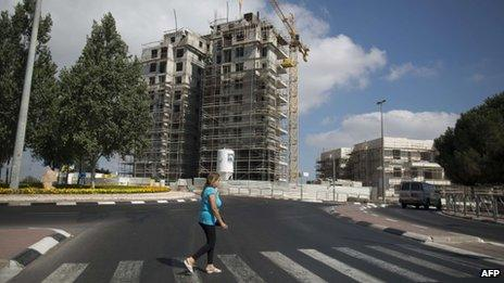 A construction site in the Jewish settlement of Gilo in East Jerusalem