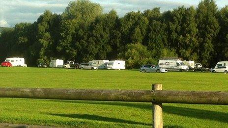 Caravans on football pitches