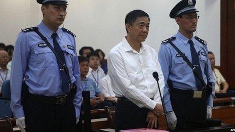 Bo Xilai in the courtroom