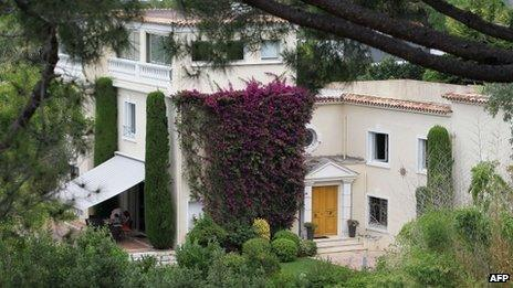 """file photo taken on August 8, 2013 shows the """"Villa fontaine Saint-Georges"""" in south-east France"""