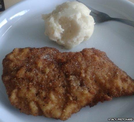 Escalope with mashed potato