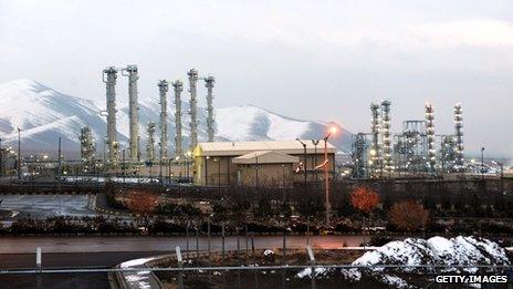 A general view of Iran's water facility at Arak