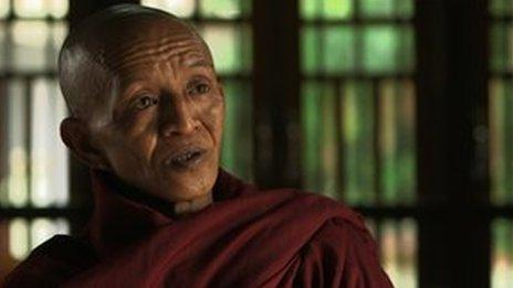 Buddhist monk Kaylar Sa, who was part of the Saffron movement