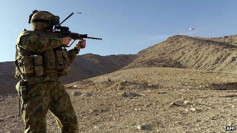 File photo: Australian soldier in Afghanistan