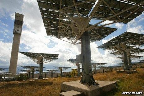 Solar furnace in the French Pyrenees