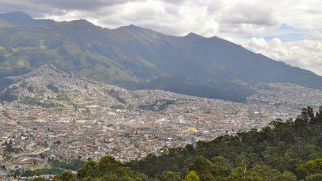View of Quito in July 2013