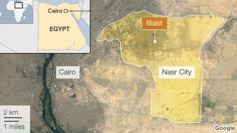 Map of Cairo and Nasr City