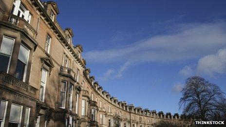 Victorian terraced houses in Edinburgh