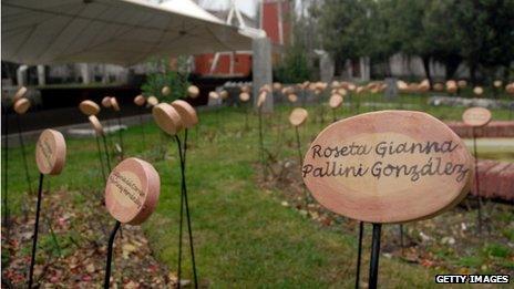 The rose garden at the former torture centre at Villa Grimaldi