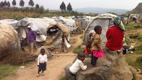Families in camp in Kenya