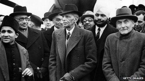 Mohammed Ali Jinnah in London, 1946