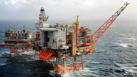 BP's offshore platforms in Valhall, an oil field in the Norwegian sector of the North Sea