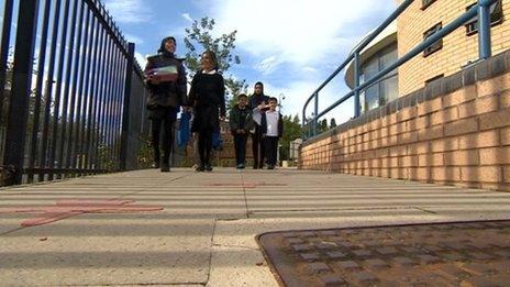 School children in Leicester