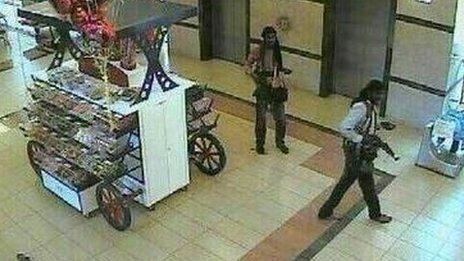 Attackers inside the Westgate mall