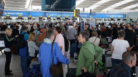Passengers delayed at Heathrow