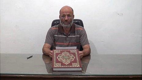 Video statement by Islamist rebel groups in Syria, read by Liwa al-Tawhid political leader Abdulaziz Salameh (24 September 2013)