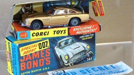 Kent Auction House Sells James Bond Corgi Cars Bbc News