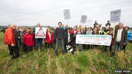 Llantrithyd villagers opposing drilling