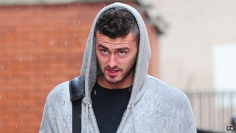 Gary Madine arriving at court to be sentenced