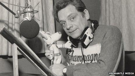 David Jason in the radio studio