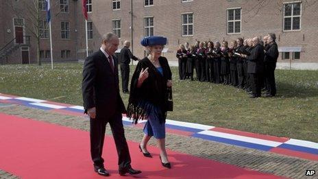 President Putin with Queen Beatrix (April 2013)