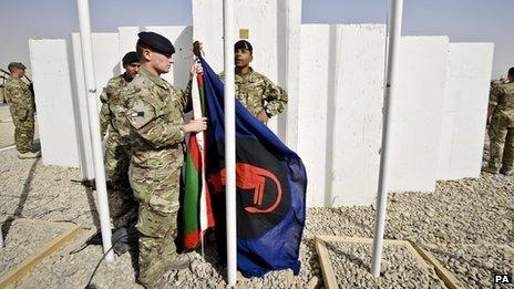 Desert Rats flag raised