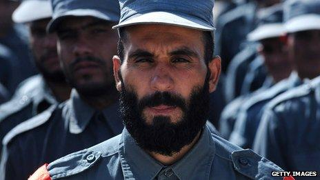 Members of the Afghan National Police