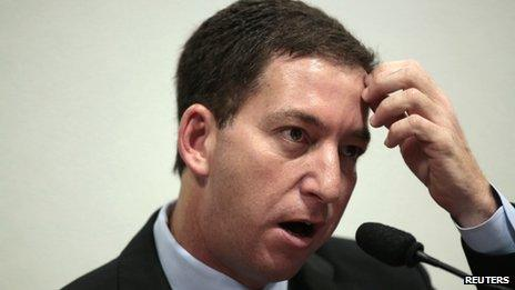 Glenn Greenwald testifies in front of the Brazilian Federal Senate's Parliamentary Inquiry Committee on 9 October 2013