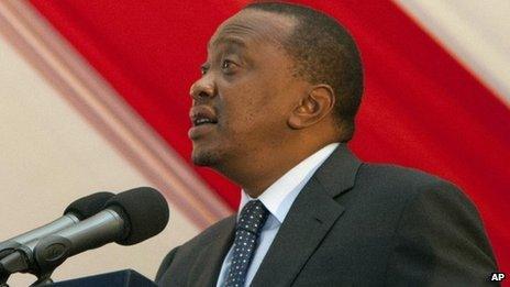 Kenyan President Uhuru Kenyatta. Photo: 1 October 2013