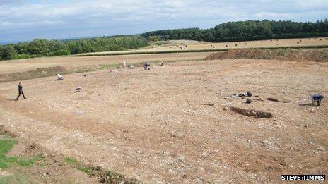 View of excavation site at Potgate Quarry