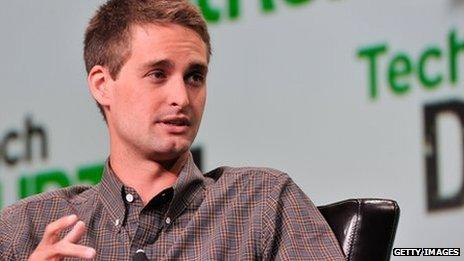 Evan Spiegel, co-founder of Snapchat