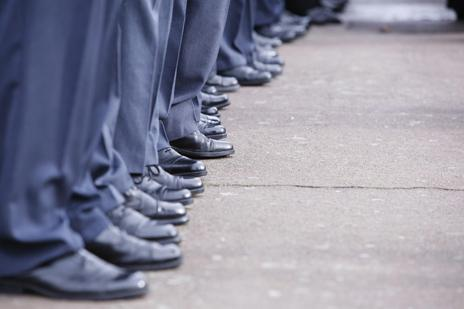 Soldier's legs on parade