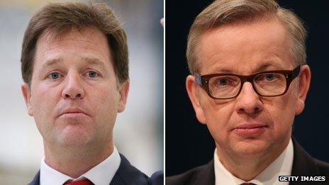 Nick Clegg, Michael Gove