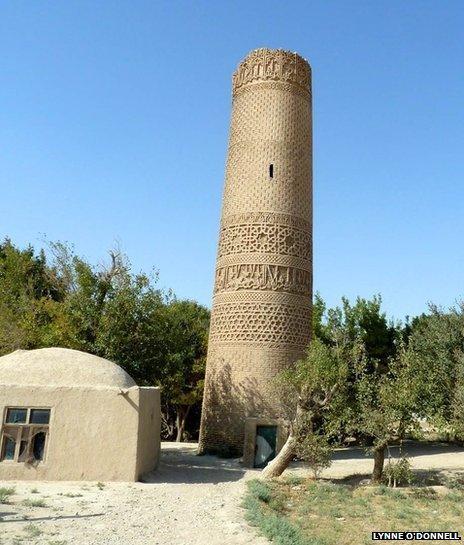 The minaret of Zadian, Dawlatabad district