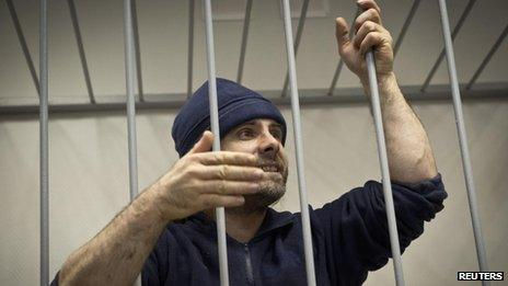 """Greenpeace International activist Iain Rogers of Britain, one of the """"Arctic 30"""" detained on piracy charges"""