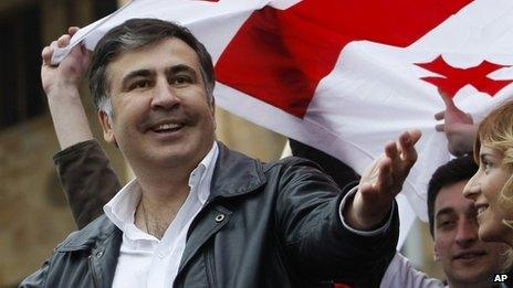 Georgian President Mikhail Saakashvili (April 2013)