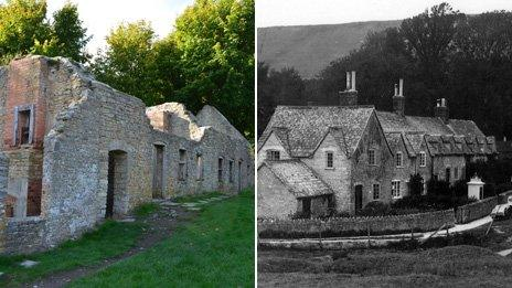 Then and now Tyneham pictures