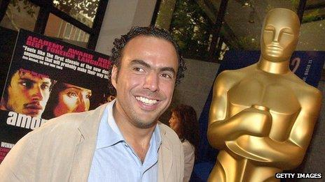 Alejandro Gonzalez Inarritu poses at a press event for the directors of Oscar-nominated foreign language films at the Oscars on 23 March 2001