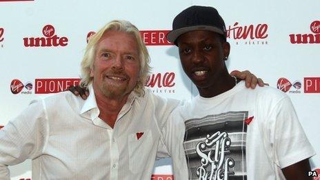 Jamal Edwards with Sir Richard Branson