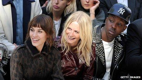 Jamal Edwards in the front row of the Burberry show during London Fashion Week in September
