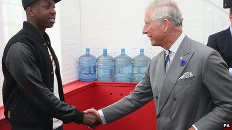 Jamal Edwards meeting Prince Charles