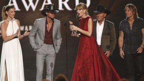Taylor Swift, Faith Hill, Tim McGraw, George Strait and Keith Urban