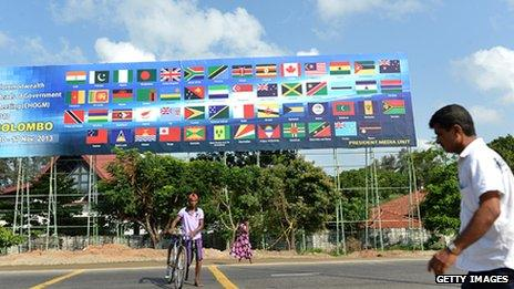 Chogm summit poster in Colombo