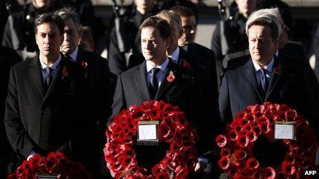 Ed Miliband, Nick Clegg and David Cameron