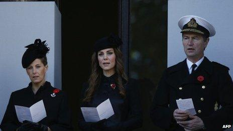 Countess of Wessex, the Duchess of Cambridge and Timothy Lawrence