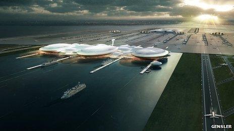 Artist's impression of island airport