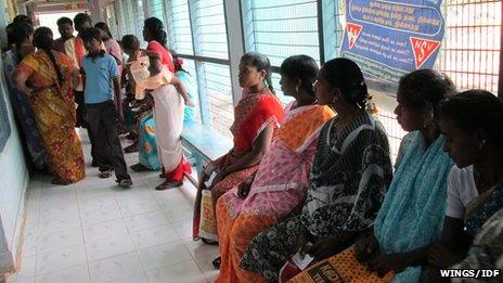 Diabetes screening clinic in Chennai, Tamil Nadu state in India