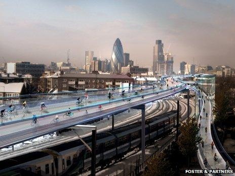 Proposed bike lane in the sky