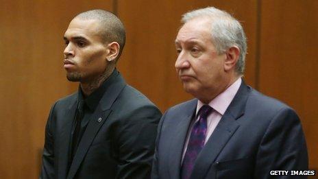 Chris Brown and Mark Geragos